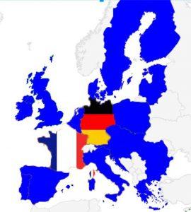 carte europe france allemagne